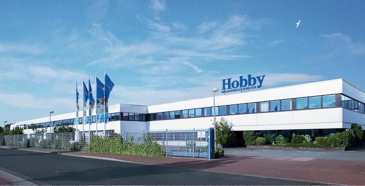 Výrobní závod obytných aut Hobby v německu